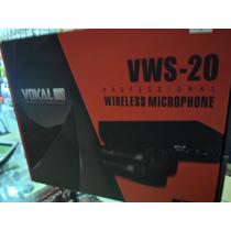 Microfone S/ Fio Duplo -profissional - Vhf - 50 Mts Alcance!