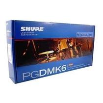 Kit Microfone Bateria Pgdmk6- Xlr Com Case