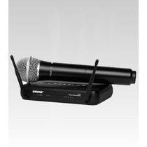 Microfone Sem Fio Shure Svx24br / Pg28 Na Cheiro De Música