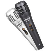Kit Microfone Com Fio De Mão Karaokê Profissional Alta Sensi
