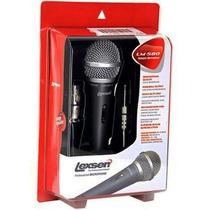 Microfone Lexsen Dinâmico Lm-580 Com Cabo Xlr-p10 4,5 Metros