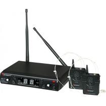 Microfone S/ Fio Karsect Kru162 Headset Na Cheiro De Música