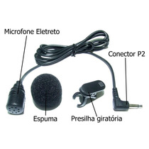 Microfone Lapela Mono P/ Kit Professor Notebook Filmadora Pc