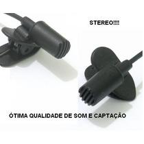 Microfone Lapela Stereo Para Cam./pc/grav.e Etc