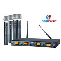 Microfone Sem Fio Staner Quadruplo Srw48q Ht48