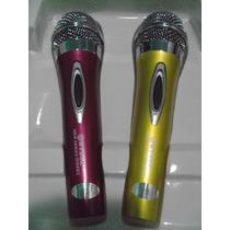 Kit 2 Microfones Profissional Com Fio Dynamic - Frete Gratis