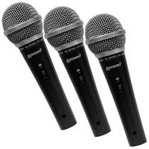 Kit Lexsen Com 3 Microfones Lm1800
