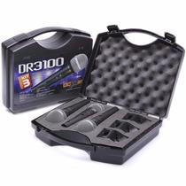 Kit 3 Microfones Profissionais Dr3100 Cachimbos Maleta Nfe