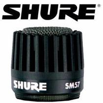 Shure Globo Grille Para Microfone Sm57 Cinza Rk244g Original