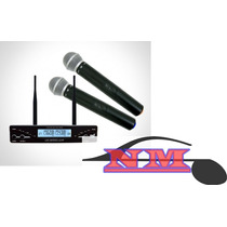 Microfone Sem Fio Tsi Ud 2000 Duplo Uhf