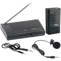 Microfone Sem Fio Com Lapela Vhf755, Alcance 50m Em Espaço