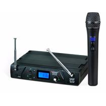 Microfone Sem Fio Profissional Uhf Karsect Kru361 Mao