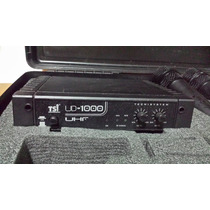 Microfone S/ Fio Duplo Tsi Ud-1000 Uhf C/ Antena E Sem Fonte