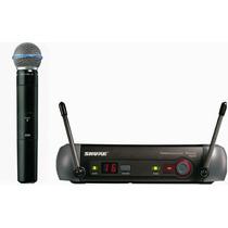 Microfone Profissional Sem Fio Shure Pgx24/beta58a Uhf