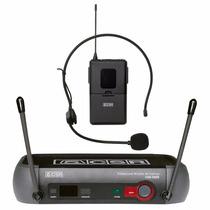 Microfone Sem Fio Transmissor Cabeça Headset Csr X888 Uhf