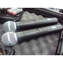 Microfone Sem Fio Duplo Uhf Jwl U-585 Mm Qualidade Top!!!
