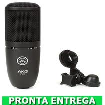 Microfone Akg P120 Condensador Profissional Estúdio Gravação
