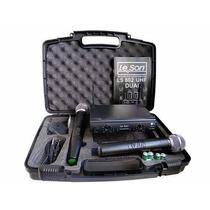Microfone Sem Fio Duplo Leson Ls802 Ht + Case