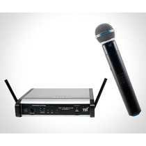 Microfone Sem Fio Tsi Ms 115 Uhf Plus De Mão - 66918