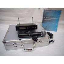 Microfone Sem Fio Shure Slx24 Beta 58a Profissional Com Case