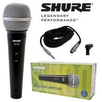Kit C 10 Microfone Shure Sv 100 Original A Toda Prova