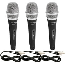 Kit 3 Microfones Profissionais Sce + Cabos Tipo Shure Sm57