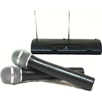 Microfone Sem Fio Duplo De Mão Wireless Tipo Shure!