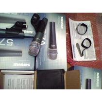 Kit Com 5 Peças Microfone Shure Beta 58a E Beta 57