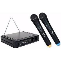 Microfone Sem Fio Duplo Uhf261 Skp