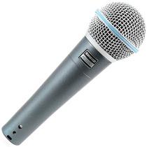Microfone Dinamico Vocal Ao Vivo Estudio Novo Shure Beta58a