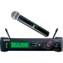Shure Microfone Sem Fio Slx24 Beta 58a 58 Made Usa