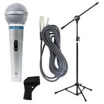 Microfone Profissional Leson Mc-200 + Pedestal + Cabo