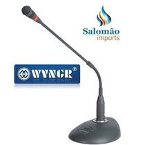 Microfone De Mesa Wg-802 Conferências E Reuniões