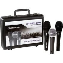 Kit 3 Microfones Com Case + Acessórios - Waldman Svoc 3pm