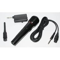Kit Microfone Karaokê + Adaptador Sem Fio Cabo + Maleta