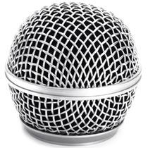 Globo Microfone Metálico Shure Sm58 Beta 58a Similares