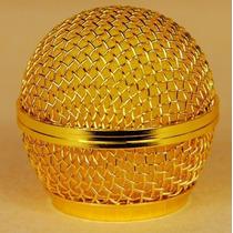 Globo Dourado P/ Microfone Shure Sm58, Beta 58a, Pgx, Slx