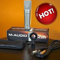 Microfone Nova M-audio Superior At2020 Samson C01 B1 B2 Pro
