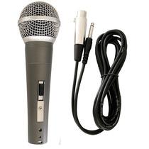 Microfone Profissional Com Fio Loud Dm58 Tipo Shure Sm58