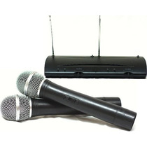 Microfone Sem Fio Duplo De Mão Wireless Tshure C/ Garantia