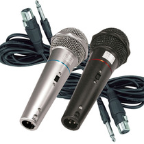Kit 2 Microfones Dinâmicos Com Cabo De 4 Metros Csr-505