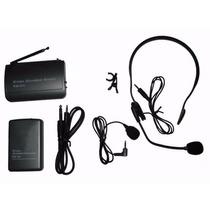 Kit Microfones Sem Fio Wireless Lapela + Auricular Headset