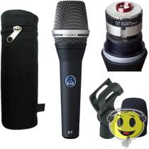 Microfone Akg D7 P/ Vocal Dinâmico + Kit Oferta Kadu Som