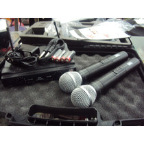 Microfone Duplo Sem Fio Uhf Jwl U 585 Mhl De Alta Qualidade