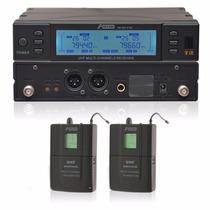 Arcano Kit Microfone Sem Fio Duplo Uhf 560 Freq Arwxy2180