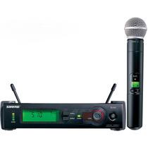 Sistema Microfone Sem Fio Shure Uhf Pro Slx24 Slx1 Beta58a