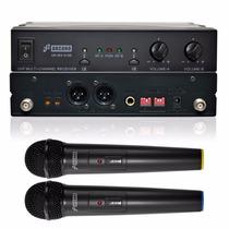 Arcano Microfone Sem Fio Duplo Uhf 16 Canais Arwx2165