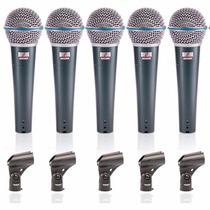 Sjf 05 Microfones Beta 58 Arcano Bt-58 Igual Shure Completo