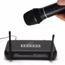 Fg Microfone Sem Fio Arcano Uhf Arc-1 De Mão Completo