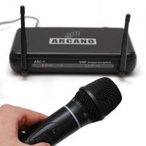 Microfone Sem Fio Arcano Uhf Arc-1 De Mão Completo Promoção